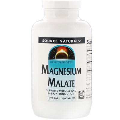Яблочнокислый магний, 1250мг, 360таблеток магний 250 мг 110 таблеток