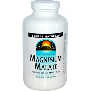 Source Naturals, Magnesium Malate, 1,250 mg, 360 Tablets