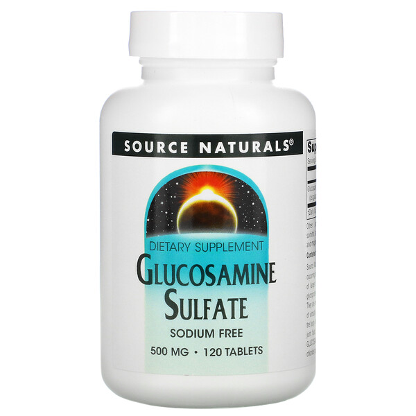 Glucosamine Sulfate, Sodium Free, 500 mg, 120 Tablets