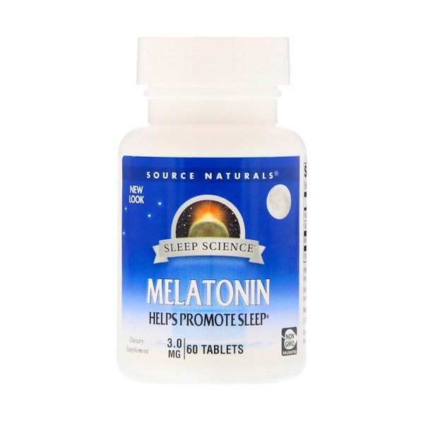 Source Naturals, Melatonin, 3 mg, 60 Tablets