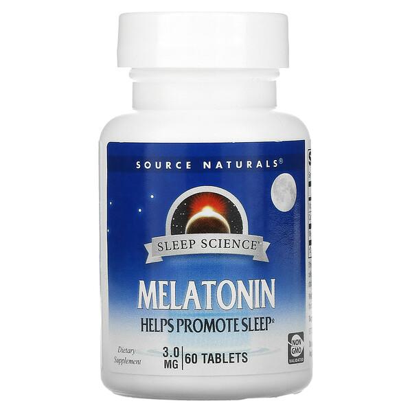 Melatonin, 3 mg, 60 Tablets