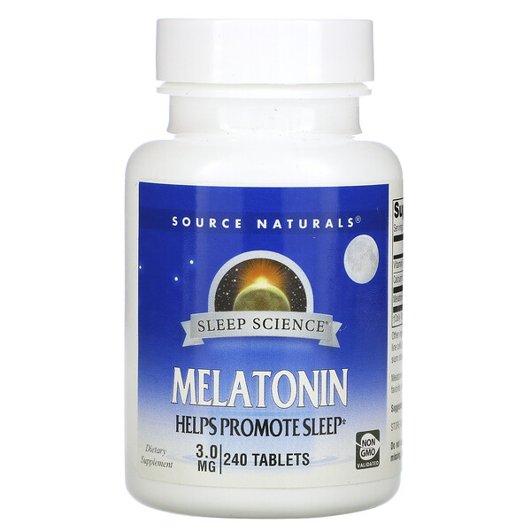 Melatonin, 3 mg, 240 Tablets