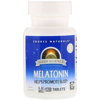Source Naturals, Melatonin, 5 mg, 120 Tabletten
