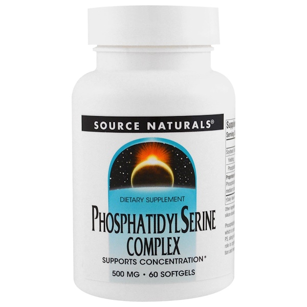 Source Naturals, Phosphatidyl Serine Complex, 500 mg, 60 Softgels