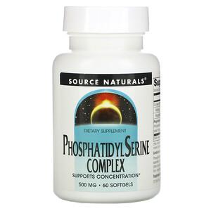 Сорс Начэралс, Phosphatidyl Serine Complex, 500 mg, 60 Softgels отзывы