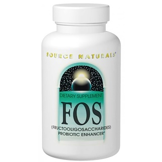 Source Naturals, FOS, (Fructooligosaccharides), 100 Tablets
