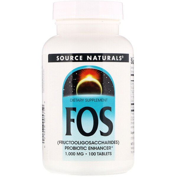 Source Naturals, FOS (Fructooligosaccharides), 1,000 mg, 100 Tablets