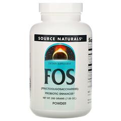 Source Naturals, FOS(低聚果糖)粉,7.05盎司(200克)