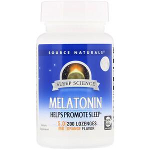 Сорс Начэралс, Melatonin, Orange Flavor, 5 mg, 200 Lozenges отзывы