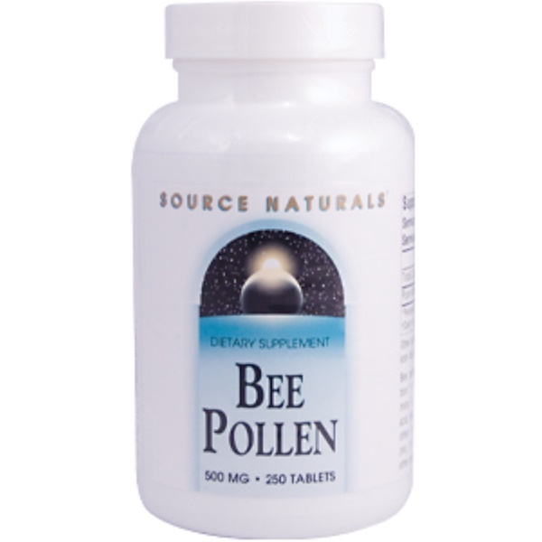 Source Naturals, Bee Pollen, 500 mg, 250 Tablets (Discontinued Item)