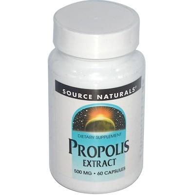 Купить Source Naturals Экстракт прополиса, 500 мг, 60 капсул