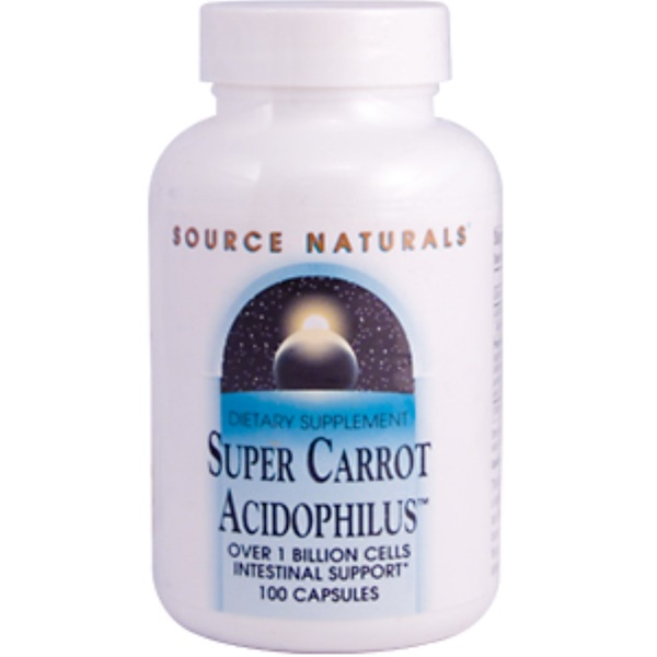 Source Naturals, Super Carrot Acidophilus, 100 Capsules (Discontinued Item)