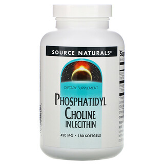Source Naturals, Phosphatidylcholin, In Lecithin, 420mg, 180Weichkapseln
