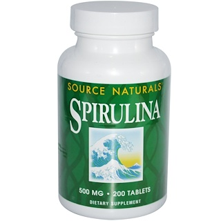 Source Naturals, Spirulina, 500 mg, 200 Tabletten