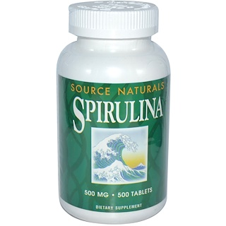 Source Naturals, Spirulina, 500 mg, 500 Tabletten