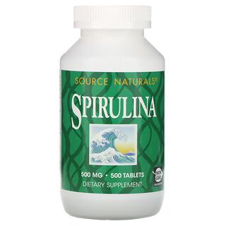 Source Naturals, سبيرولنا، 500 ملغم، 500 حبة