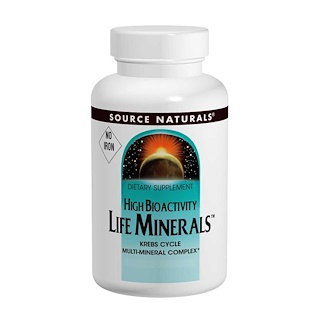 Source Naturals, Life Minerals, No Iron, 120 Tablets