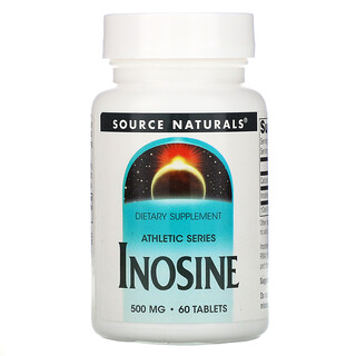 Source Naturals, Athletic Series, Inosine, 500 mg, 60 Tablets