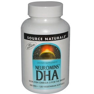 Source Naturals, Neuromins DHA, 200 mg, 120 Veggie Softgels