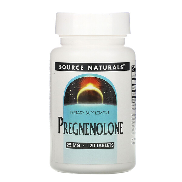Pregnenolone, 25 mg, 120 Tablets