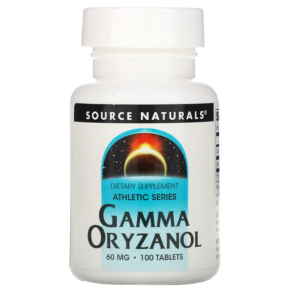 Source Naturals, Athletic Series, 감마 오리자놀, 60mg, 100정