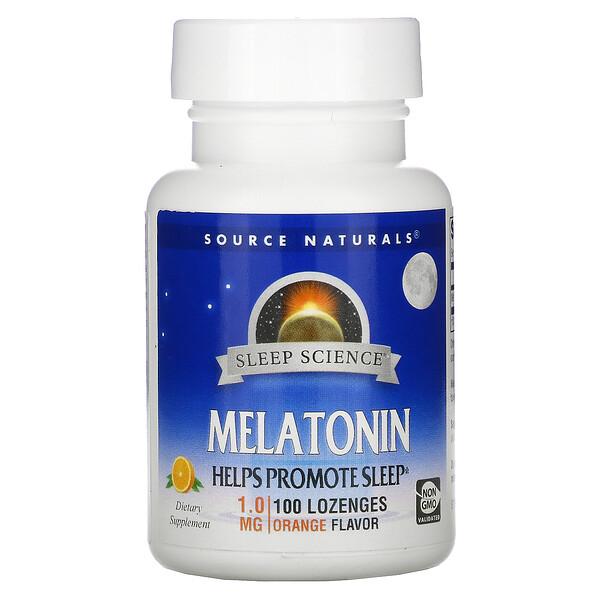 Melatonin, Orange, 1.0 mg, 100 Lozenges