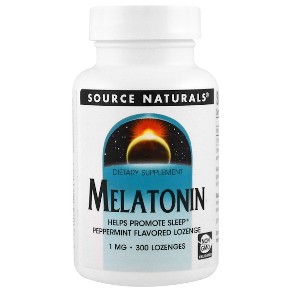 Melatonin, Peppermint, 1 mg, 300 Lozenge