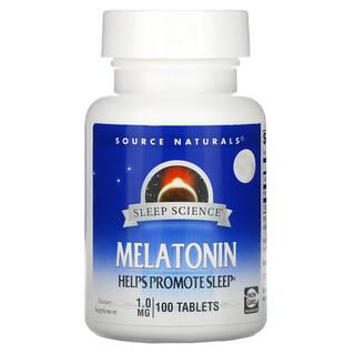 Source Naturals, Sleep Science, Melatonin, 1 mg, 100 Tablets