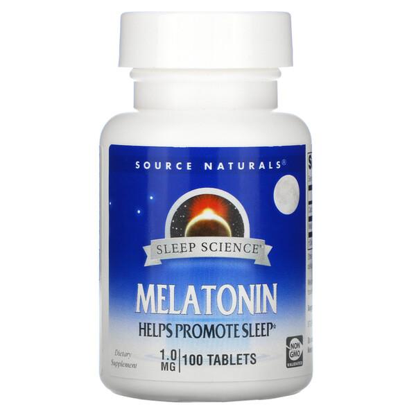 Sleep Science, Melatonin, 1 mg, 100 Tablets