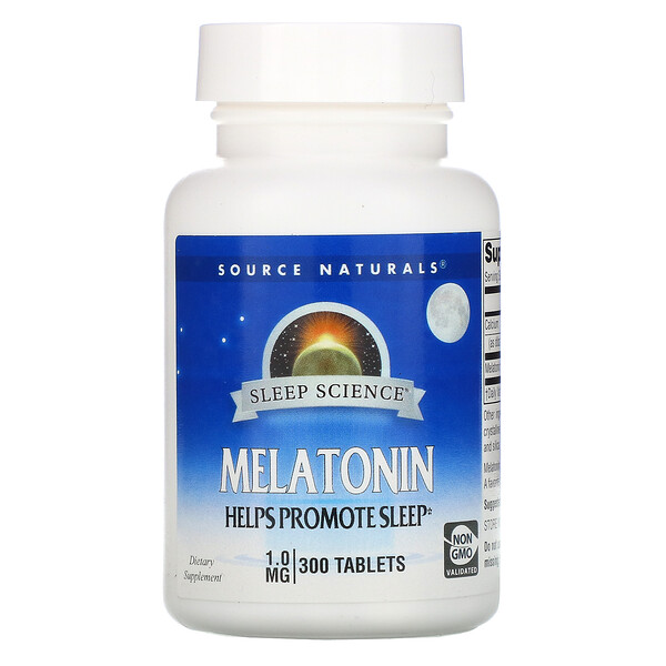 Sleep Science, Melatonin, 1.0 mg, 300 Tablets