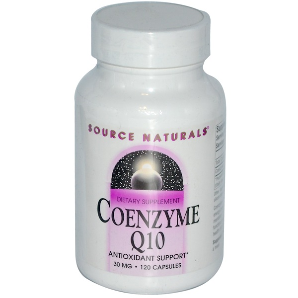 Source Naturals, Coenzyme Q10, 30 mg, 120 Capsules (Discontinued Item)