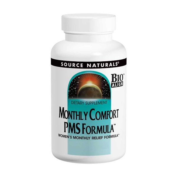 Source Naturals, Monthly Comfort PMS Formula, 90 Tablets (Discontinued Item)