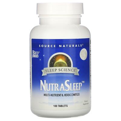 Купить Source Naturals Пищевая добавка NutraSleep, 100 таблеток