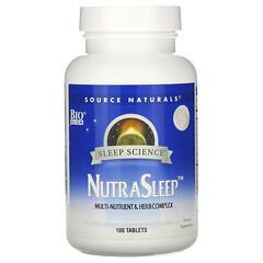 Source Naturals, Sleep Science,NutraSleep,100 片