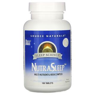 Source Naturals, NutraSleep, 100 tabletas
