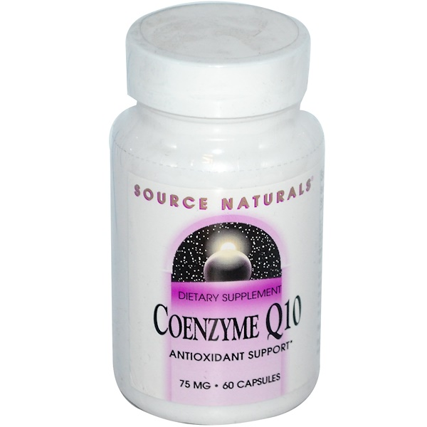 Source Naturals, Coenzyme Q10, 75 mg, 60 Capsules (Discontinued Item)
