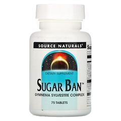 Source Naturals, Sugar Ban, 75 片