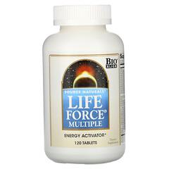 Source Naturals, Life Force 複合維生素礦物營養片,120 片裝