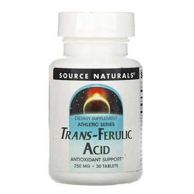 Купить Source Naturals Транс-aеруловая кислота, 250 мг, 30 таблеток