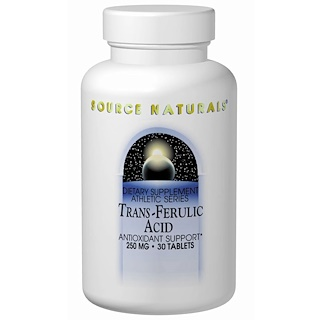 Source Naturals, Trans-Ferulic Acid, 250 mg, 30 Tablets