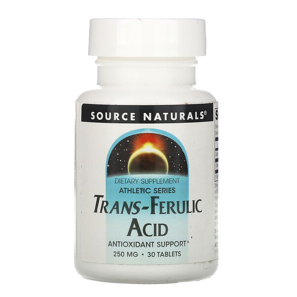 Trans-Ferulic Acid, 250 mg, 30 Tablets