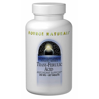 Source Naturals, Trans-Ferulic Acid, 250 mg, 60 Tablets