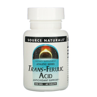 Source Naturals, Athletic Series, Trans-Ferulic Acid, 250 mg, 60 Tablets