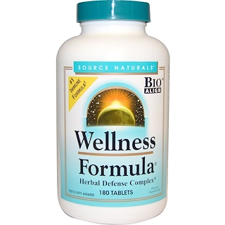 Source Naturals, Wellness Formula, 180 Tablets