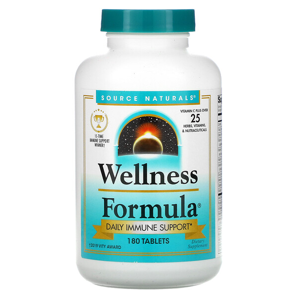 Wellness Formula, Daily Immune Support, 180 Tablets