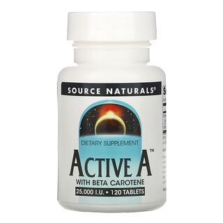 Source Naturals, Active A, 25,000 IU, 120 Tablets