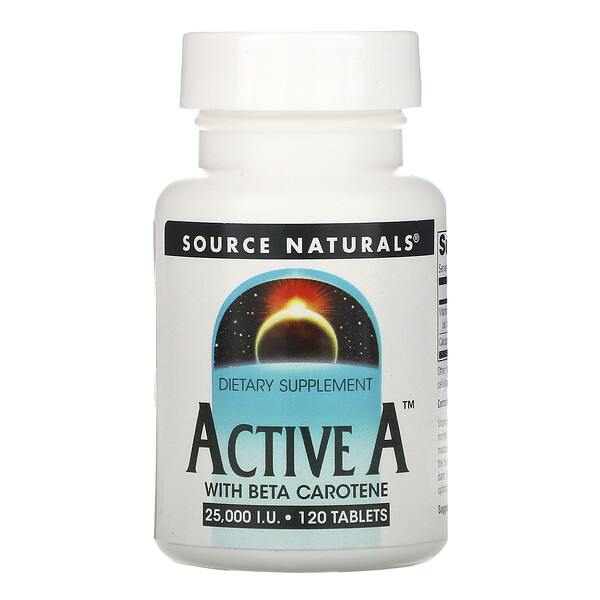 Source Naturals, Active A, Vitamina A, 25.000 UI, 120 comprimidos