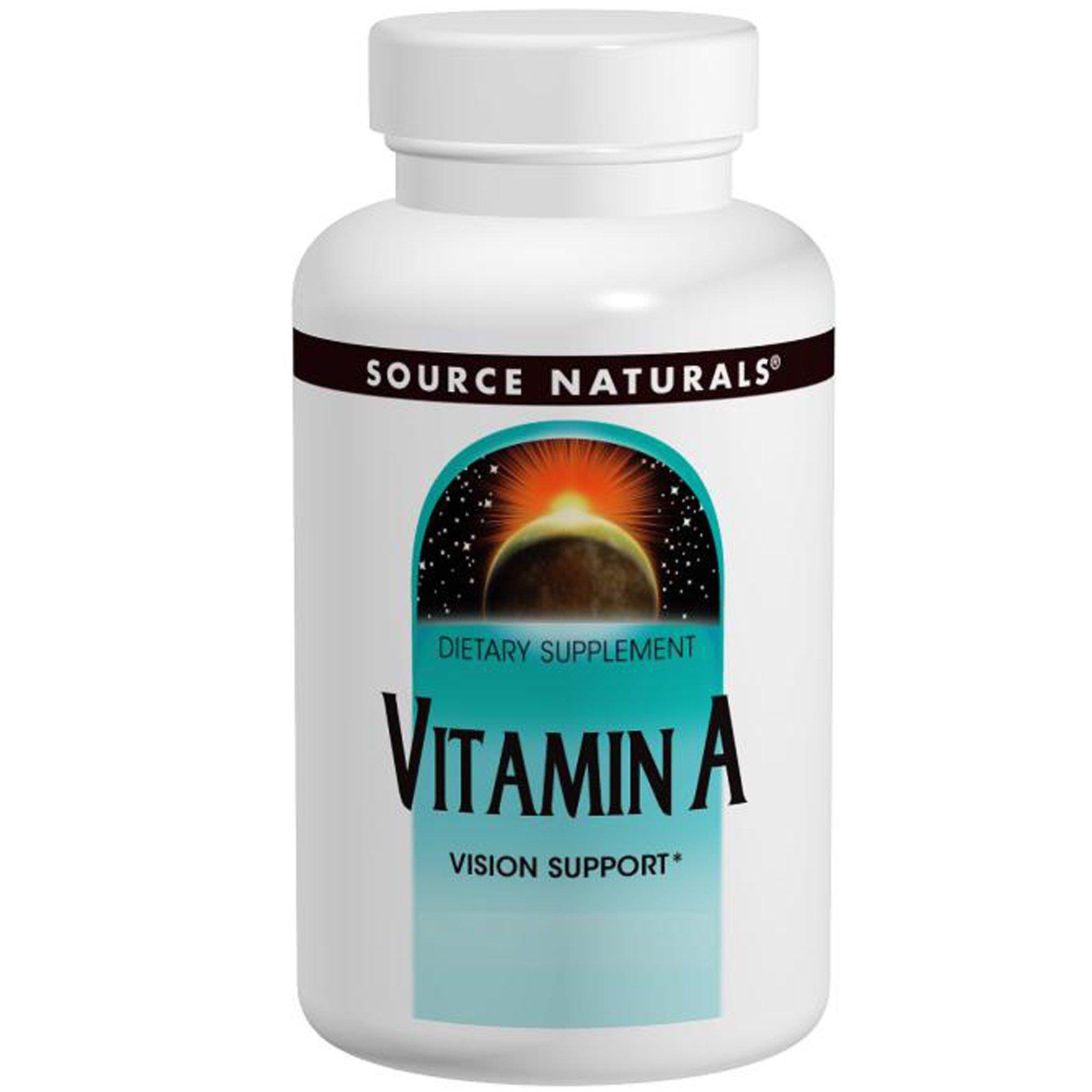 Source Naturals, Витамин А, 10000 МЕ, 100 таблеток