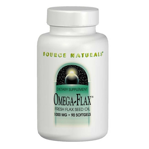 Source Naturals, Omega-Flax, 1,000 mg, 90 Softgels (Discontinued Item)