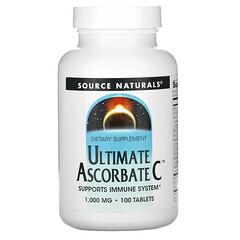 Source Naturals, 特優級 Ascorbate C 維生素 C,1000 毫克,100 片裝